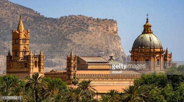 palermo cathedral - シチリア パレルモ市 ストックフォトと画像