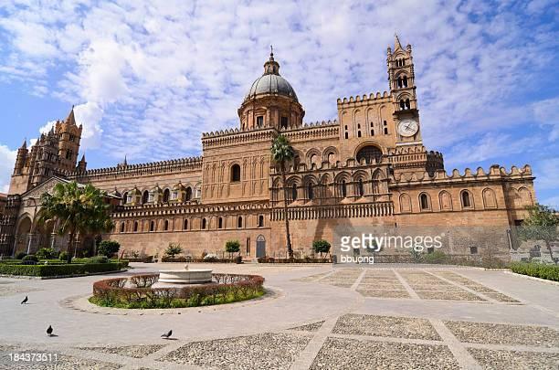 cattedrale di palermo (italia meridionale - cattedrale foto e immagini stock