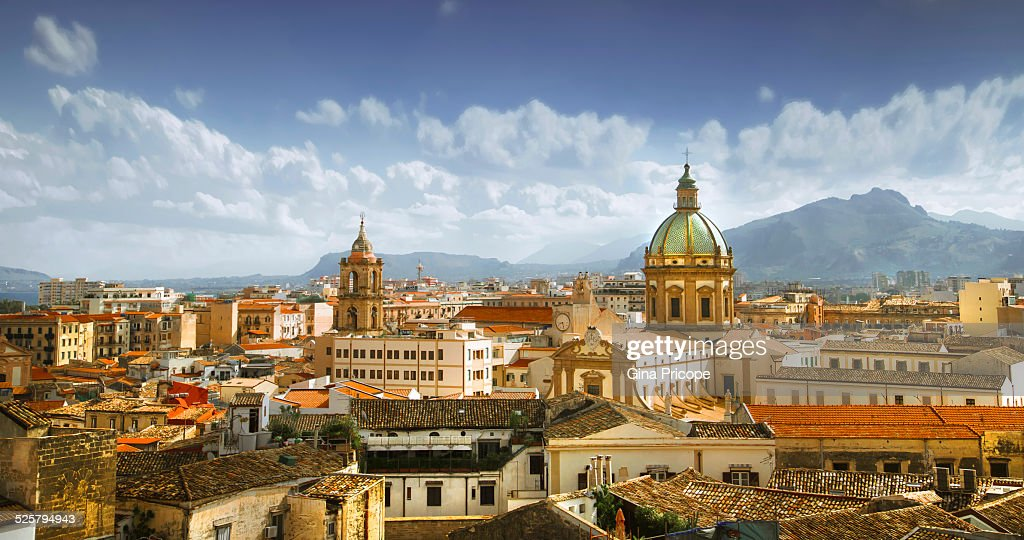 Palermo cityscape : Stock Photo