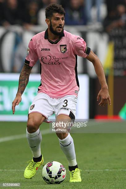 Palermo defender Eros Pisano in action during the Serie A football match n8 JUVENTUS PALERMO on 26/10/14 at the Juventus Stadium in Turin Italy...