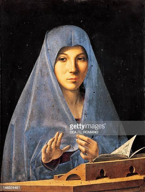 Palermo Galleria Regionale Della Sicilia The Annunciation ca 1476 by Antonello da Messina Tempera and oil on wood 45x345 cm