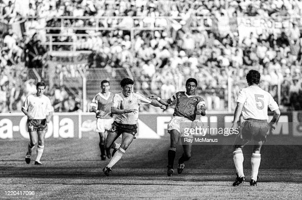 Palermo , Italy - 17 June 1990; Andy Townsend of Republic of Ireland in action against Egypt during the FIFA World Cup 1990 Group F match between...