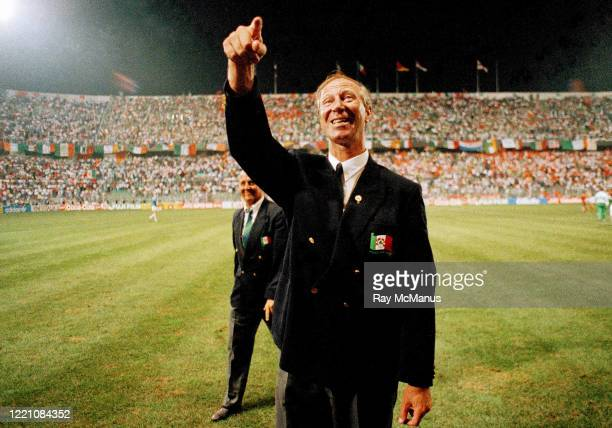 Palermo Italy 21 June 1990 Republic of Ireland manager Jack Charlton after the FIFA World Cup 1990 Group F match between Republic of Ireland and...
