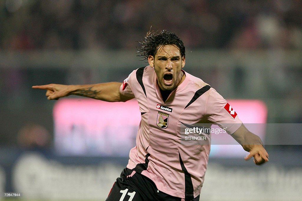 Palermo's forward Amauri from Brazil jub : News Photo