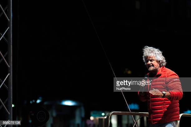 -- Palermo, May 6 , 2014 -- Beppe Grillo, leader of the Movimento 5 Stelle, Five Star Movement, holding a speech in Palermo during the campaign rally...