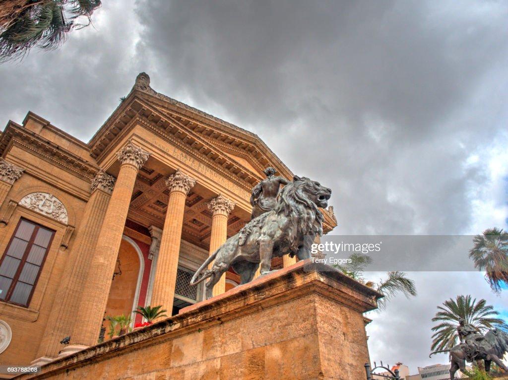 Palermo Opera House Teatro Massimo Piazza Giuseppe Verdi Stock Photo ...