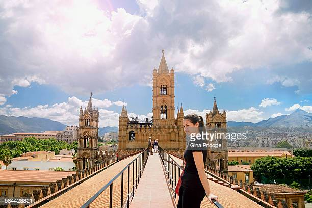 Palermo Sicily, the rooftop of the Cathedral