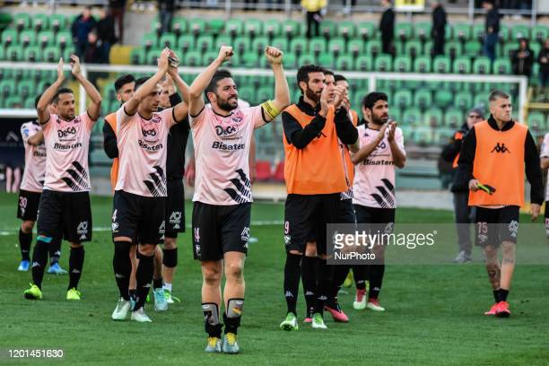 Palermo team during the serie D match between SSD Palermo and ASD Biancavilla at Stadio Renzo Barbera on February 16, 2020 in Palermo, Italy.
