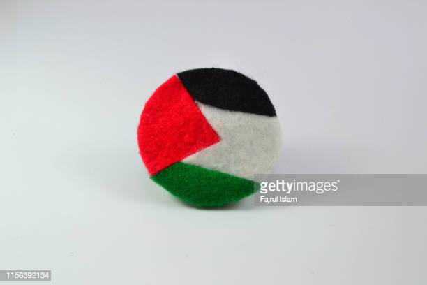 palestine flag on white background - palestinian flag stock pictures, royalty-free photos & images