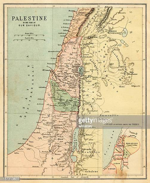 palestine in the time of our saviour - historical palestine stock pictures, royalty-free photos & images