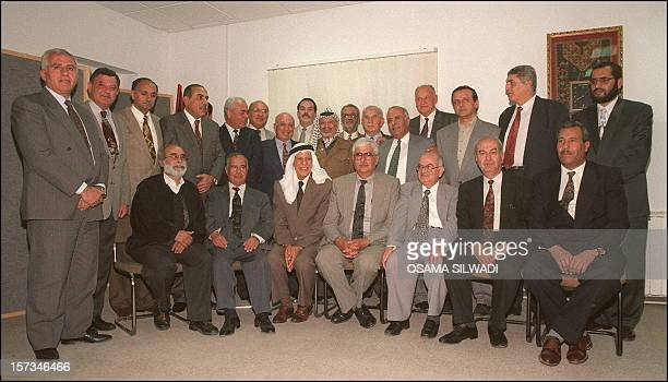 Palestine Liberation Organisation chairman and President of Palestinian Authority Yasser Arafat shown in picture dated 17 May 1996 in Ramallah as he...