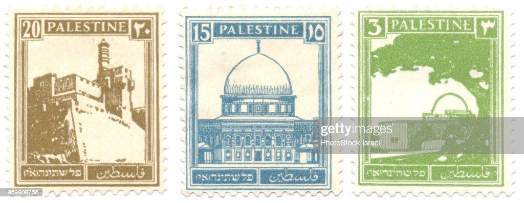 Palestine stamps : Stock-Foto