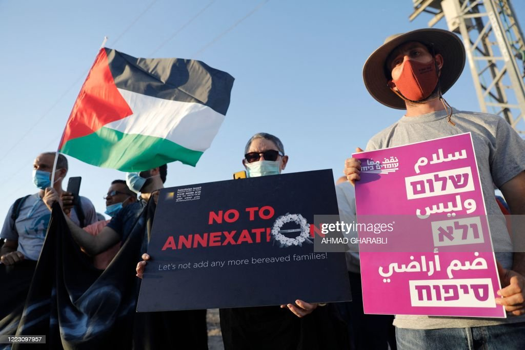 PALESTINIAN-ISRAEL-CONFLICT-ANNEXATION : News Photo