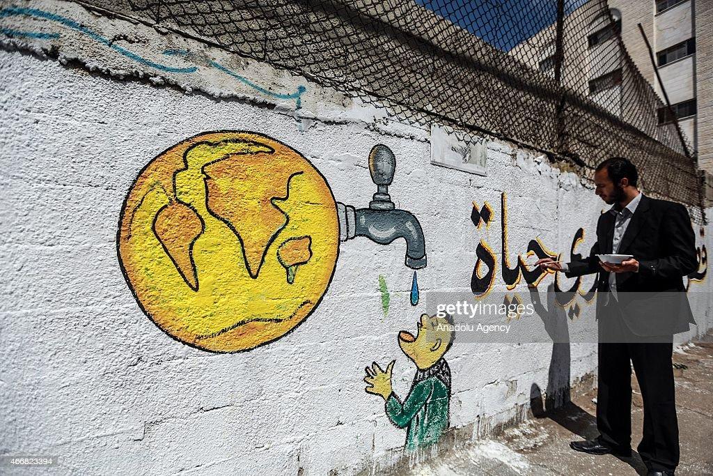 Water scarcity in Gaza City : News Photo