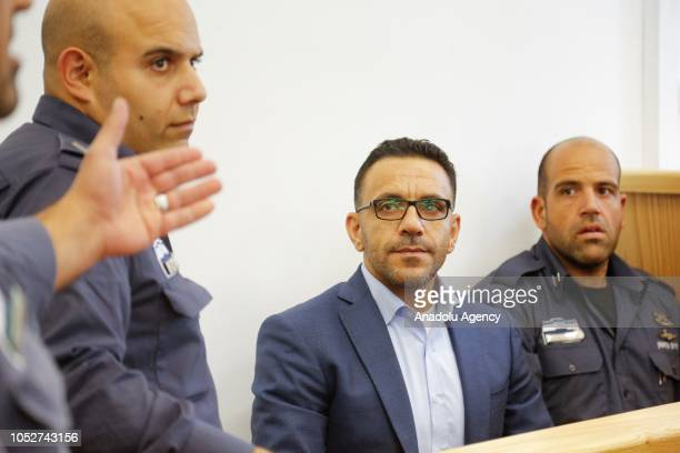 Palestinian Authority Jerusalem Governor Adnan Ghaith appears in the Israeli court on October 22, 2018 in Jerusalem.