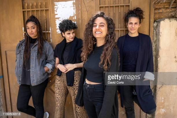 Palestinian band Kallemi group portrait in Ramallah West Bank on 7 April 2019