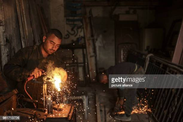Palestinian blacksmith Ali Banat makes Keys of Return which symbolize the right of Palestinian refugees to return to homes they were expelled from or...