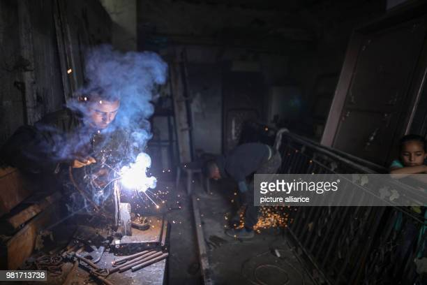 Palestinian blacksmith Ali Banat makes Keys of Return which symbolizes the right of Palestinian refugees to return to homes they were expelled from...