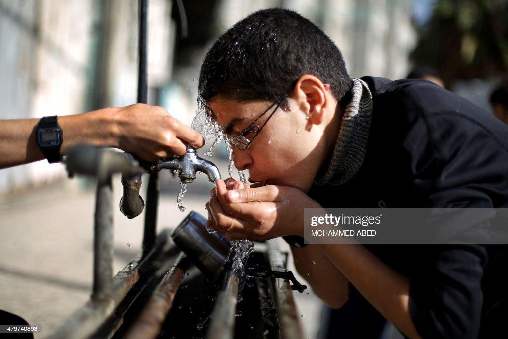 PALESTINIAN-ISRAEL-GAZA-WATER-AID-EU-UNICEF : News Photo