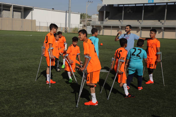 GZA: War Amputees Soccer Team Training Session In Gaza