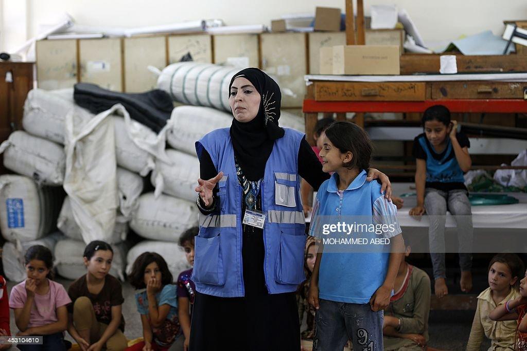 PALESTINIAN-ISRAEL-CONFLICT-GAZA-UN : News Photo