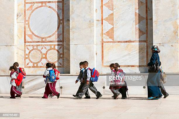 palestinian children at dome of the rock - palestinian stock pictures, royalty-free photos & images