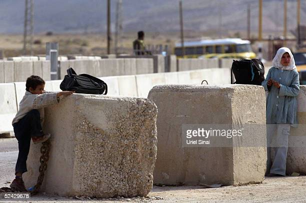 Palestinian children play by an Israeli checkpoint March 2005 at the entrance to the West Bank city of Jericho Israel announced that it will hand...