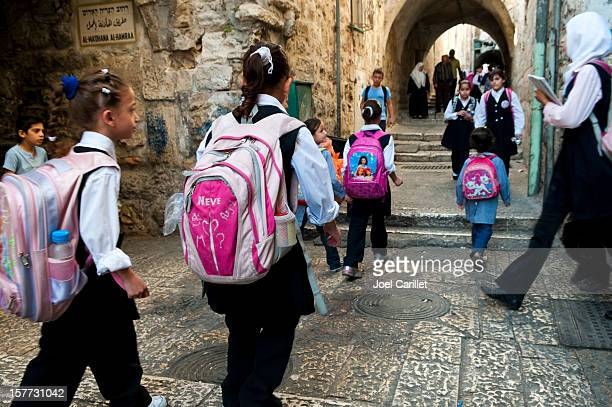 palestinian students in jerusalem - palestinian stock photos and pictures