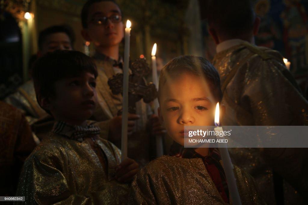 PALESTINIAN-GAZA-CHRISTIANITY-EASTER : News Photo