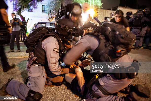 Palestinian citizens of Israel were met with a strong Israeli police response during a protest in Haifa against Israeli actions in Jerusalem's Sheikh...