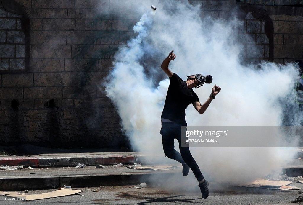 TOPSHOT-PALESTINIAN-ISRAEL-CONFLICT : Foto di attualità