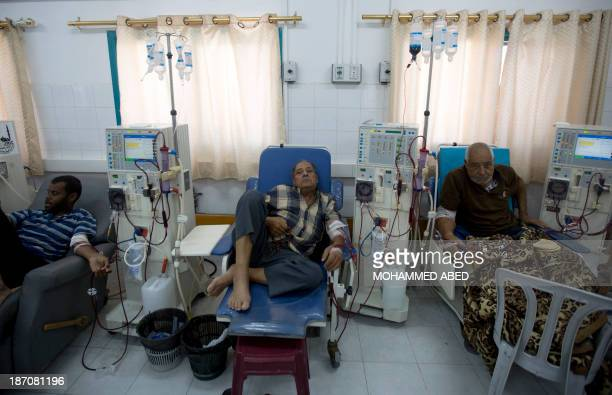 Palestinian dialysis patient receive treatment on November 6 2013 at alShifa hospital in Gaza City which regularly suffers from heavy power cuts...