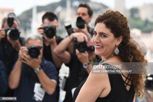 Palestinian director/writer and member of the Un Certain Regard jury Annemarie Jacir poses on May 9 2018 during a photocall for the Un Certain Regard...