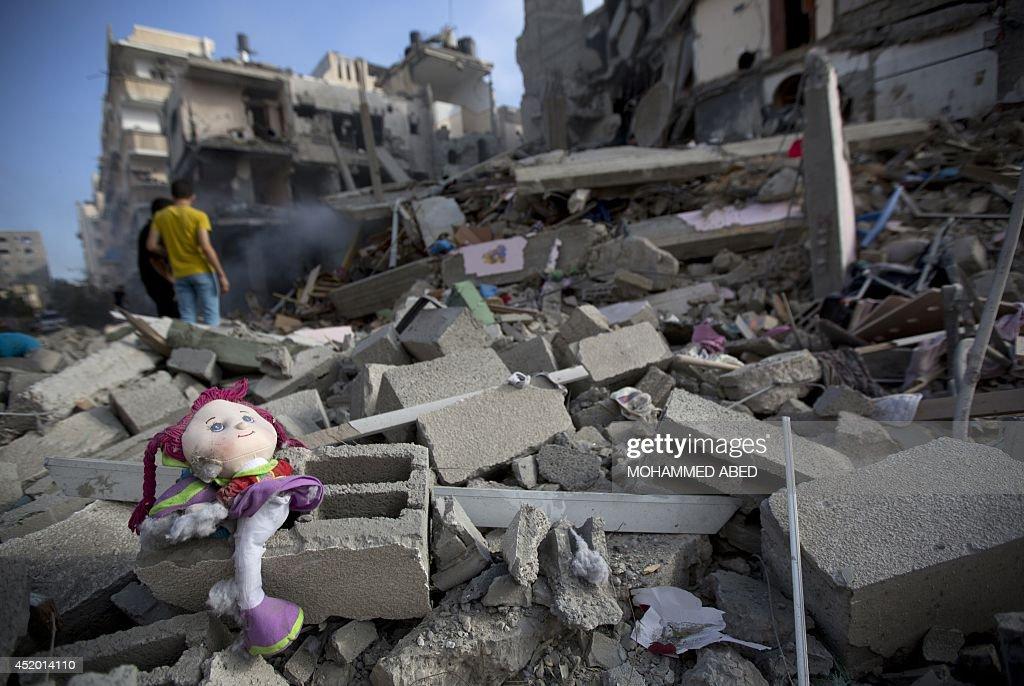 PALESTINIAN-ISRAEL-CONFLICT-GAZA : Nachrichtenfoto