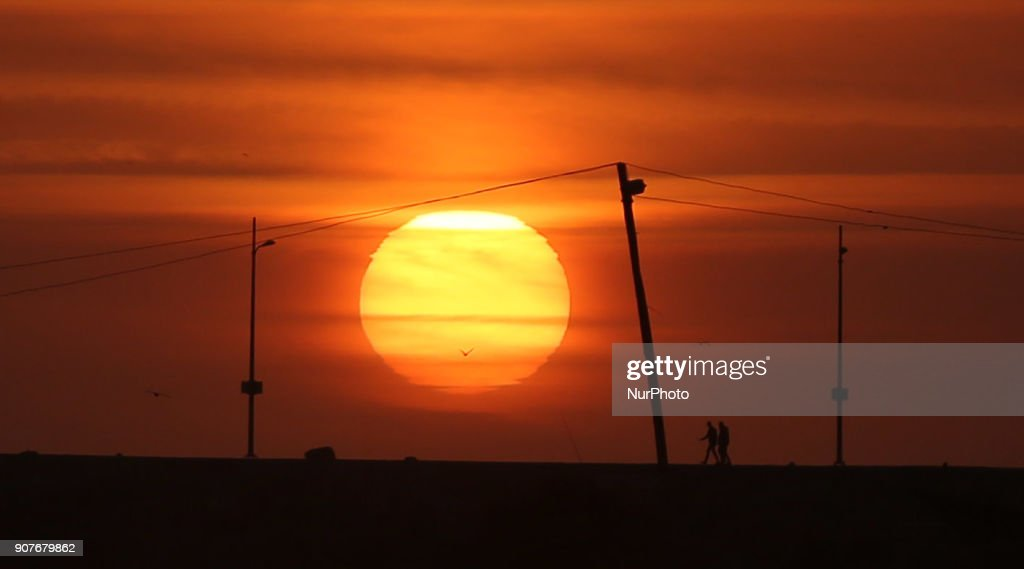 Sunset In Gaza