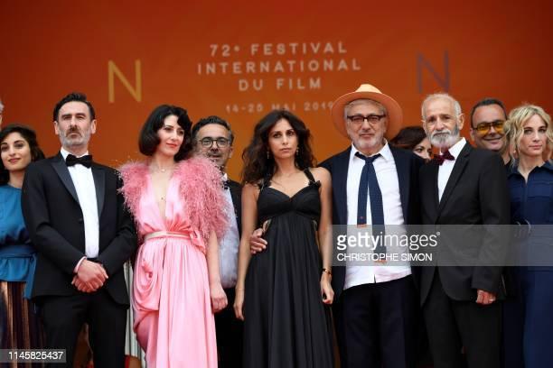 Palestinian film director and actor Elia Suleiman arrives with Israeli actress Yasmine Haj Canadian actor Fadi Sakr Canadian actress Raia Haidar...