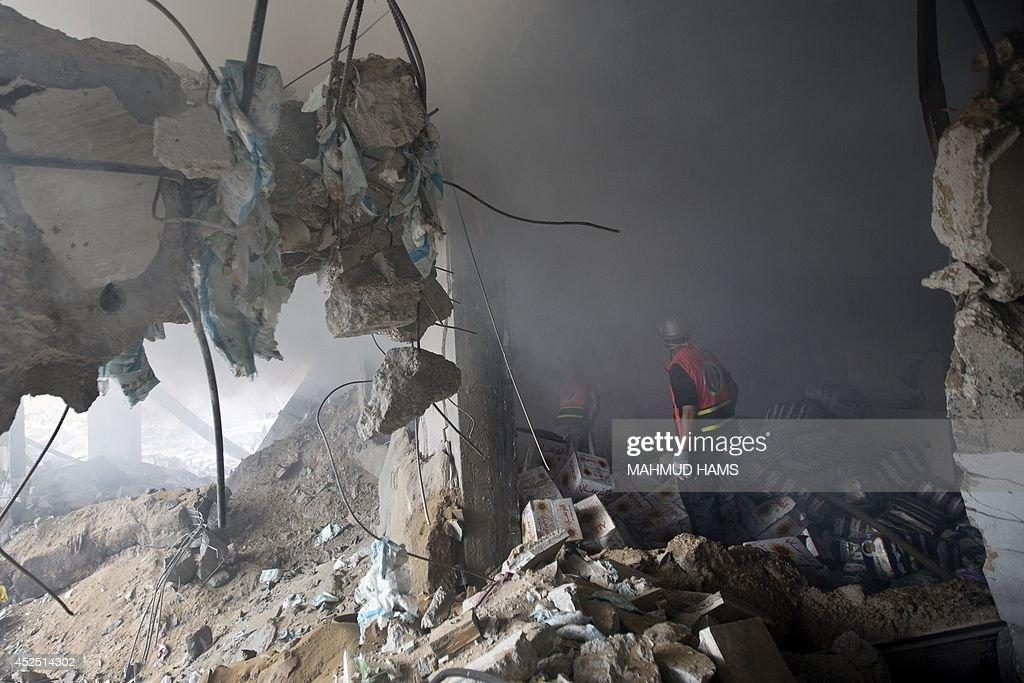 PALESTINIAN-ISRAEL-GAZA-CONFLICT : Foto jornalística