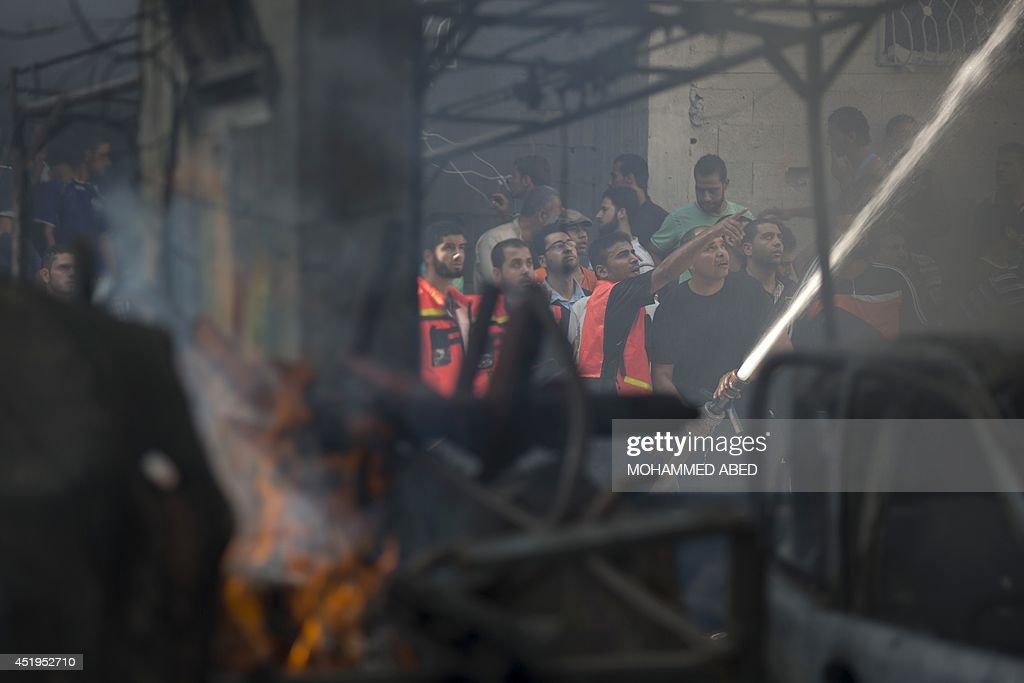 PALESTINIAN-ISRAEL-CONFLICT-GAZA : News Photo