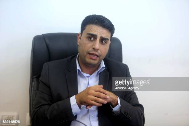 Palestinian Government's spokeperson Tariq Rishmawi speaks during an exclusive interview with Turkey's semiofficial news agency Anadolu Agency in...