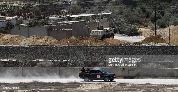 Palestinian Hamas security drive along the EgyptGaza border in Rafah southern Gaza Strip as the Egyptian army destroy the smuggling tunnels...