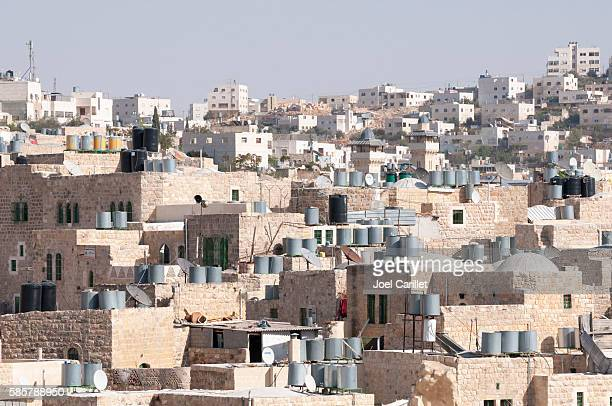 palestinian homes in hebron, west bank - hebron stock pictures, royalty-free photos & images