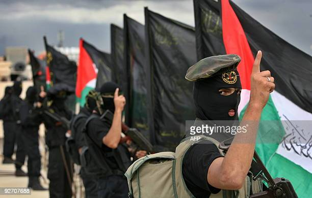 Palestinian Islamic Jihad supporters take part in a rally in Gaza City on October 30 2009 Israeli Prime Minister Benjamin Netanyahu met with...