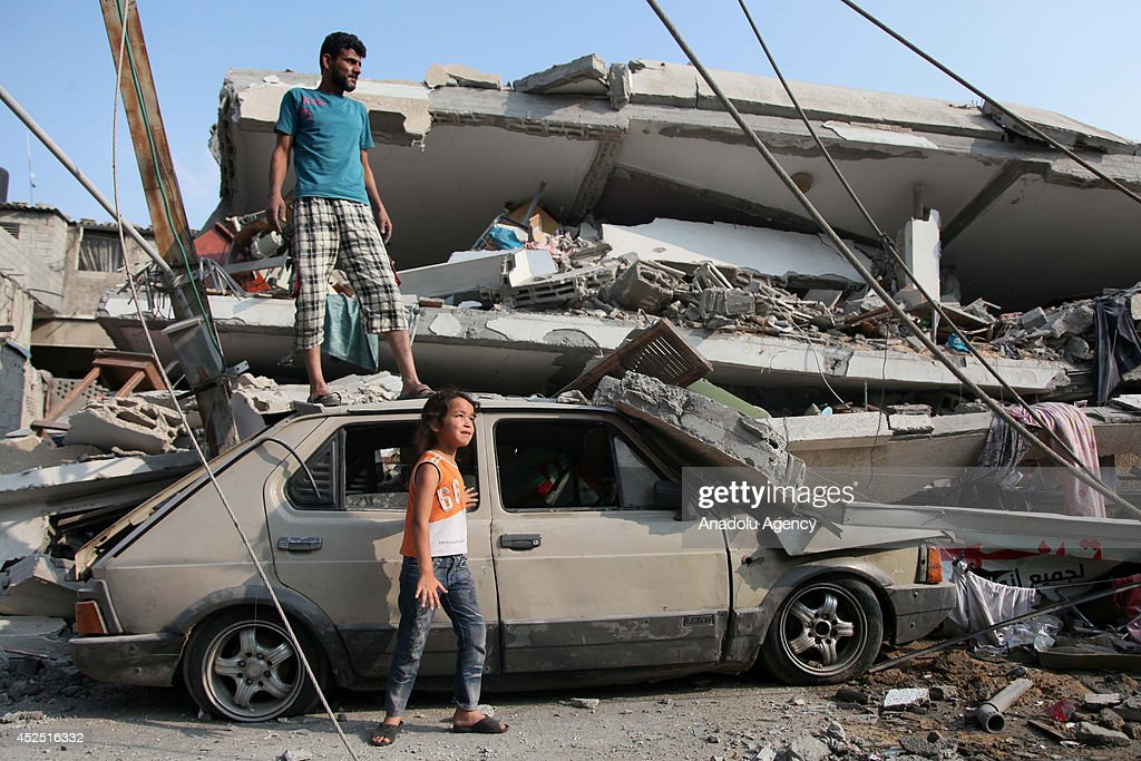 Israeli assault demolishes houses of Palestinians : News Photo