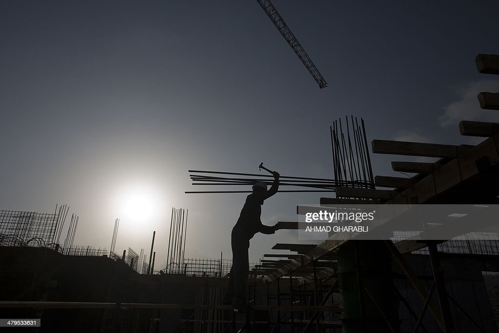 ISRAEL-PALESTINIAN-CONFLICT-SETTLEMENT : News Photo