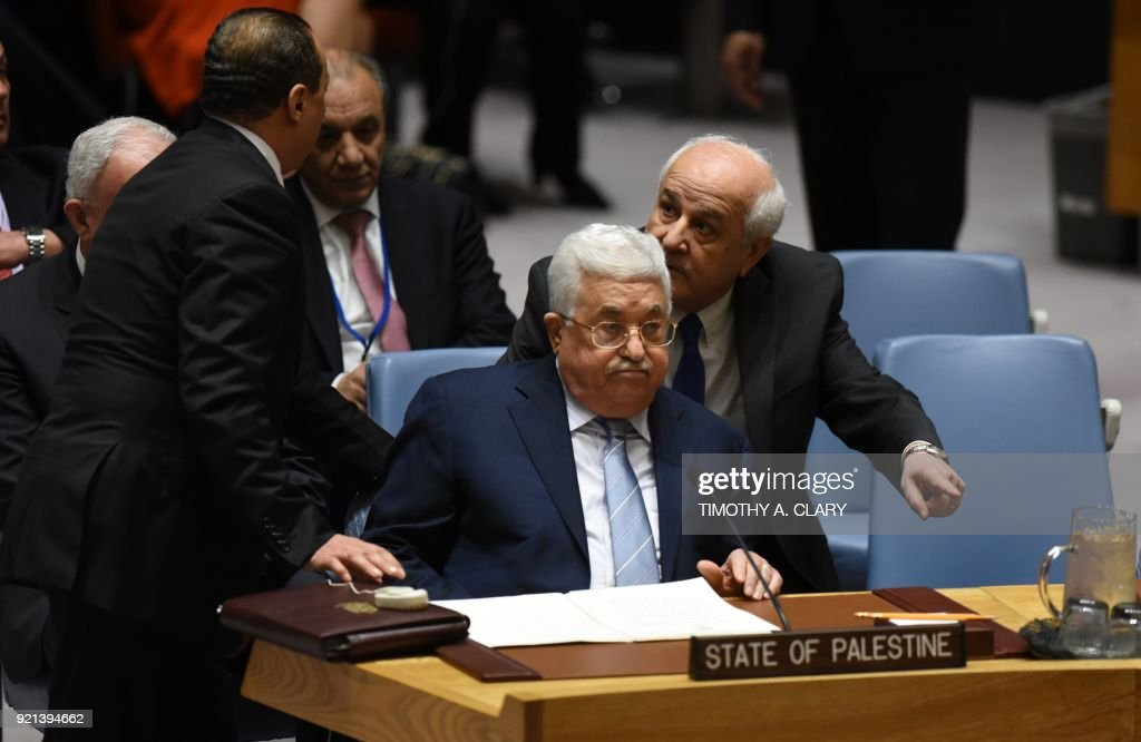 Palestinian President Abbas Attends UN Security Council Meeting