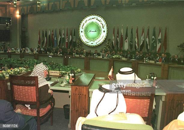 Palestinian leader Yasser Arafat among leaders in panorama of Arab League summit held October 21-22.