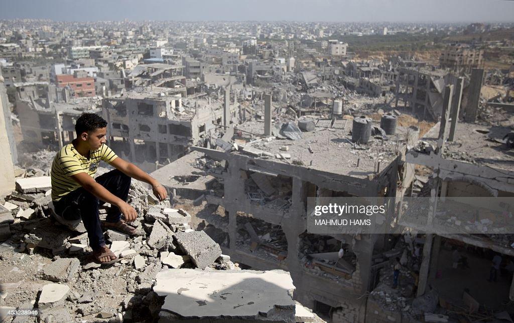 PALESTINIAN -ISRAEL-CONFLICT-GAZA : News Photo
