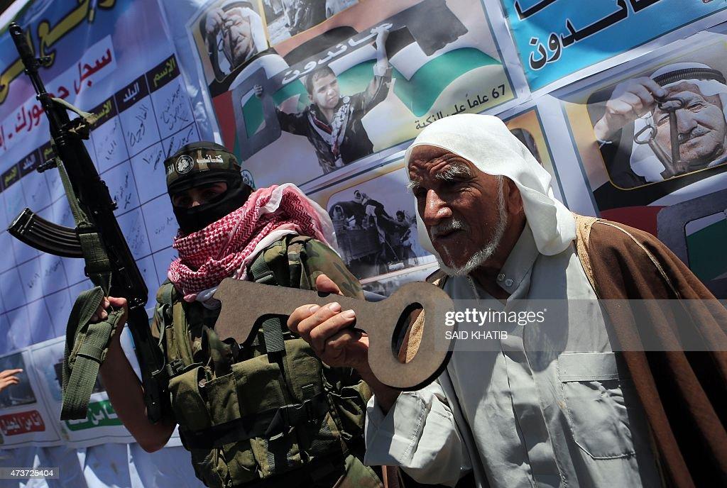 PALESTINIAN-ISRAELI-CONFLICT-GAZA-NAKBA : News Photo