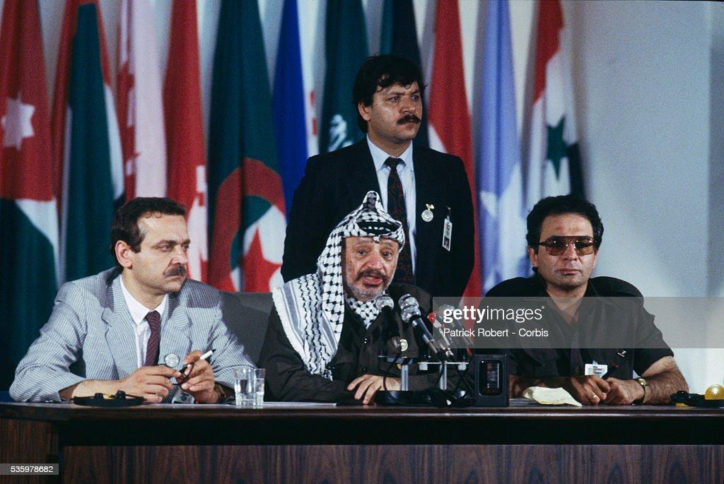Yasser Abd Rabu Arafat And Bassam Abou Charif News Photo