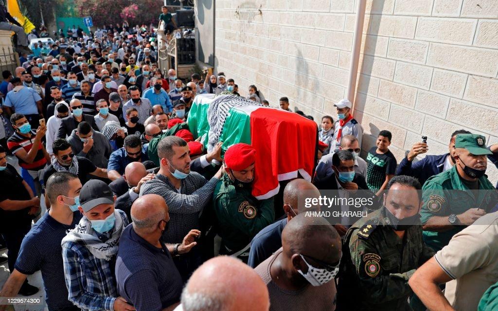 PALESTINIAN-ISRAEL-DIPLOMACY-HEALTH-VIRUS : News Photo